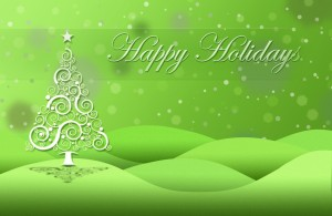 Happy Holidays Wallpaper in Green by chiaralily