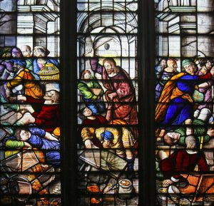 Christ Cleansing the Temple by Fr Lawrence Lew, O.P